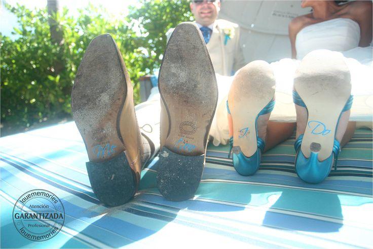 Bride & Groom Shoes #RivieraMaya #Mexico