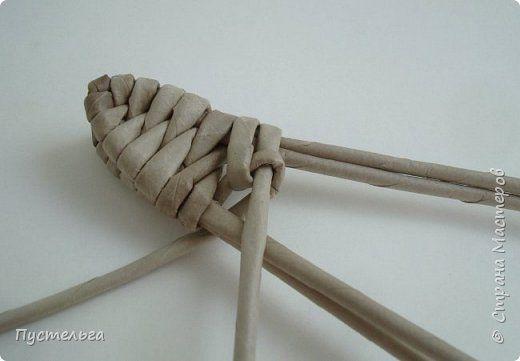 ящерица плетение из газетных трубочек мастер класс