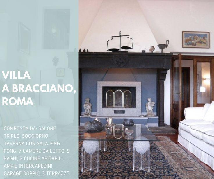 Proponiamo villa esclusiva di 900mq nel Lago di Bracciano, Roma, con magnifica vista del lago e del castello medievale Odescalchi ed un parco privato di 6.000 metri con ulivi ed agrumi. In vendita a €2.000.000.