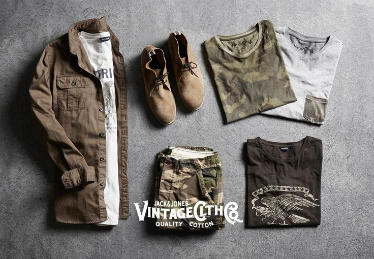 Military-inspired collection! Jeanswear with authentic camo and military references.