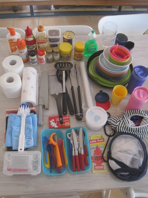 Camping kitchen boxes - organised camping