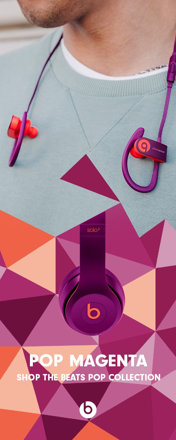 8fa6722fada Shop the Beats Pop Collection. Upgrade your style this summer with bright  and colorful Beats Solo3 Wireless headphones and Powerbeats3 Wireless  earphones in ...