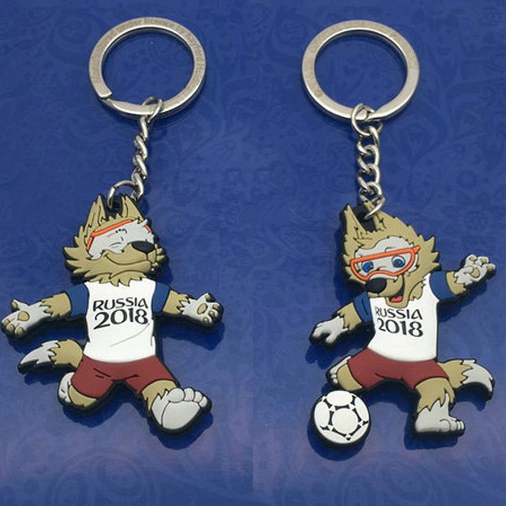 1Pc 2018 FIFA World Cup Mascot Key Chain Keyrings For Soccer Fans Souvenir Gifts  | eBay