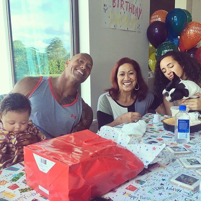 Pin for Later: 24 Pictures of Dwayne Johnson and His Beautiful, Blended Family