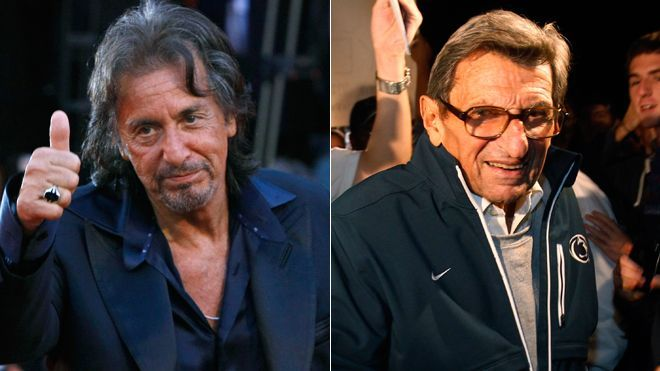 "Al Pacino has signed on to play late Penn State football coach Joe Paterno in a movie with the working title, ""Happy Valley."" (via Fox News; photo via Reuters)"