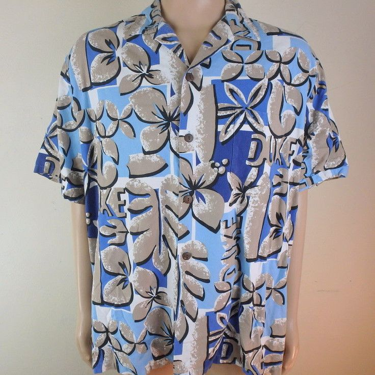 Duke Kahanamoku DUKE Aloha Mens 3XL Shirt Royal Hawaiian Creations Bamboo blend #DukeKahanamoku #Hawaiian