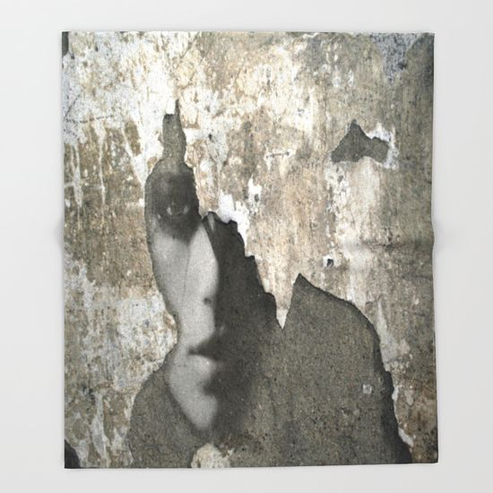 The Wall Throw Blanket by Müge Başak - $49.00