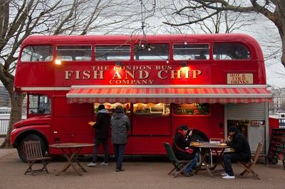 Fish and Chips Shop, Southbank, London. #Butterlondon #Rocktheyear