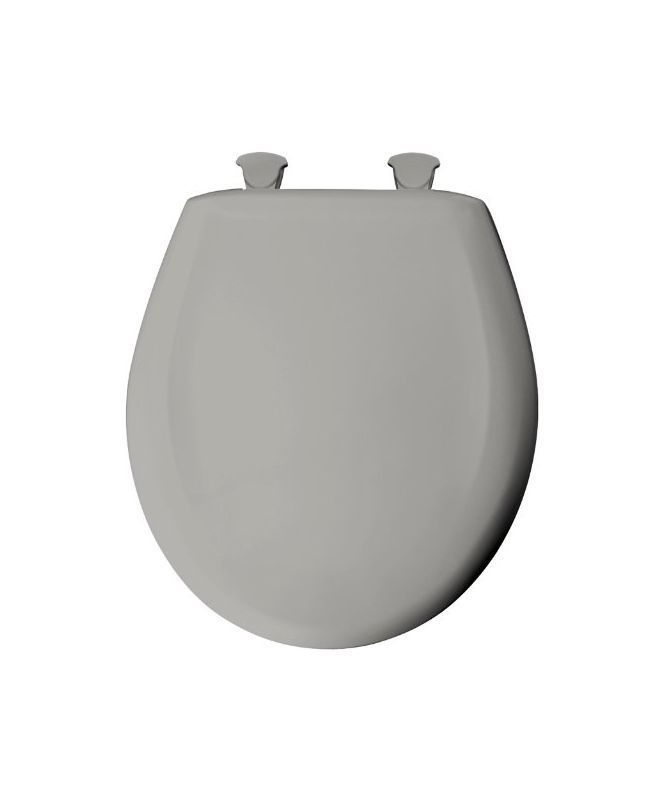 Bemis 200SLOWT Round Closed-Front Toilet Seat and Lid with Whisper-Close® Easy- Ice Grey Accessory Toilet Seat Round