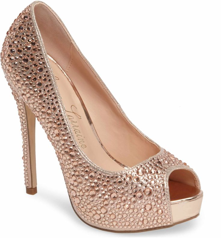 Main Image - Lauren Lorraine 'Candy' Crystal Peep Toe Pump (Women)