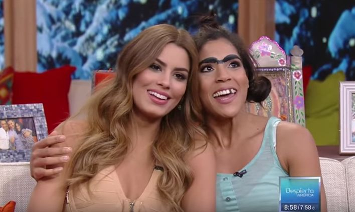 """Mela La Melaza Sorprende A Miss Colombia Y Le Dice Que Ellas Son Como """"Dos Gotas De Agua"""" En 'Despierta America' #Video"""
