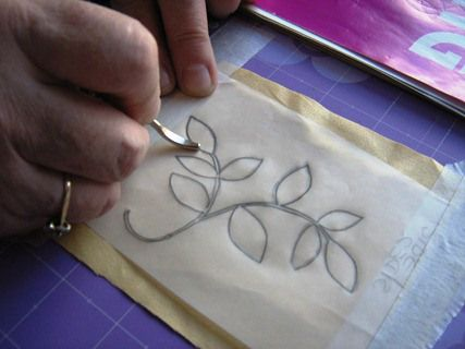 How to transfer an embroidery design – Needle Work
