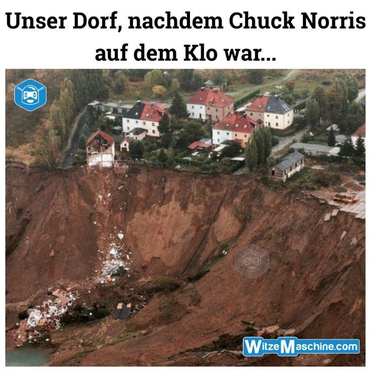 Chuck Norris Witze - Klo-Erdrutsch - Lustige Bilder