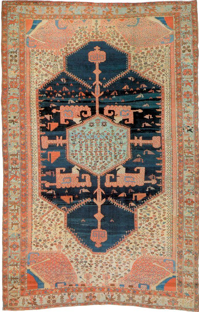 Persian Bakhshaish rug, mid 19th c, 500 x 330 cm, Moshe Tabibnia gallery