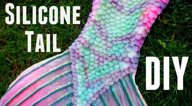 DIY silicone mermaid tail - YouTube