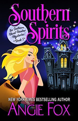"""Southern Spirits (Southern Ghost Hunter Mysteries Book 1) by Angie Fox, http://smile.amazon.com/dp/B00SFYXLX6/ref=cm_sw_r_pi_dp_FAvWub0E81VTF Just finished reading this book.  I loved it.  This story is about """"Verity Long"""" who is somewhat down on her luck, but doesn't let it get her down.  She discovers an ugly """"vase"""" that is full of """"dirt"""" that gets dumped out and her adventure starts from there."""