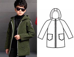 Готовая выкройка детской куртки с рукавом-реглан