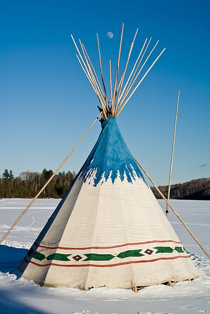 Tipi and the Moon, via Flickr.
