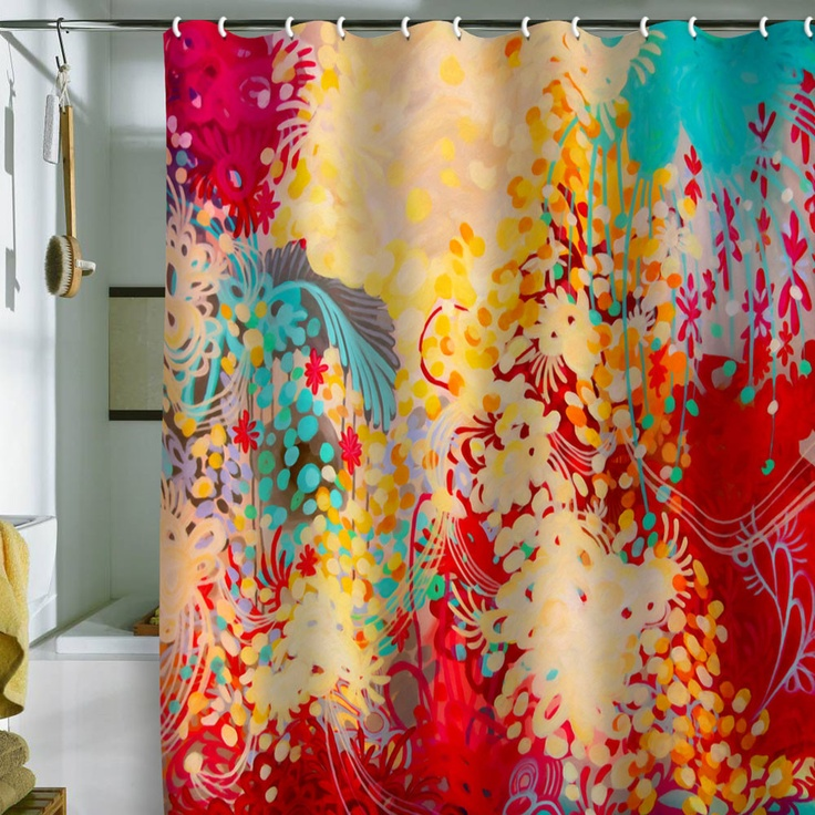 Sadly it's a shower curtain, but I love the colors and pattern for something in the living room.