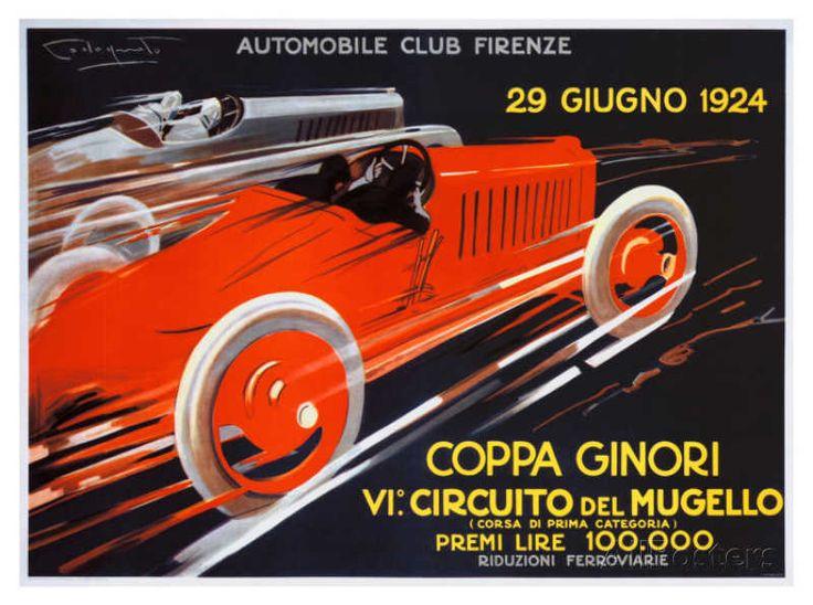Coppa Ginori, Auto Race, Florence Giclee Print - at AllPosters.com.au