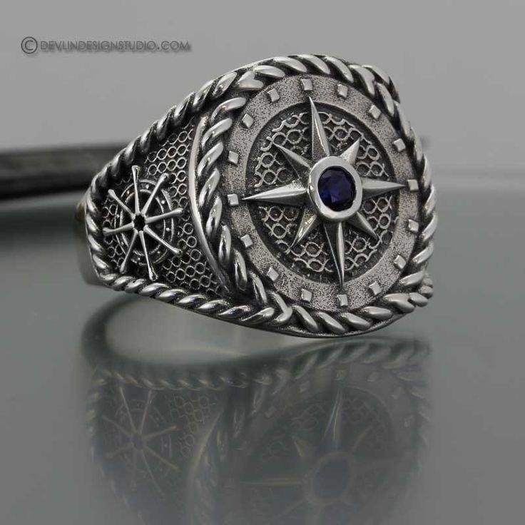 Men's Compass Ring. Love!!!