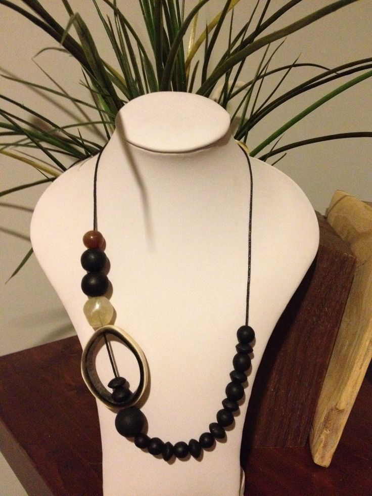 Hand made horn and resin necklace