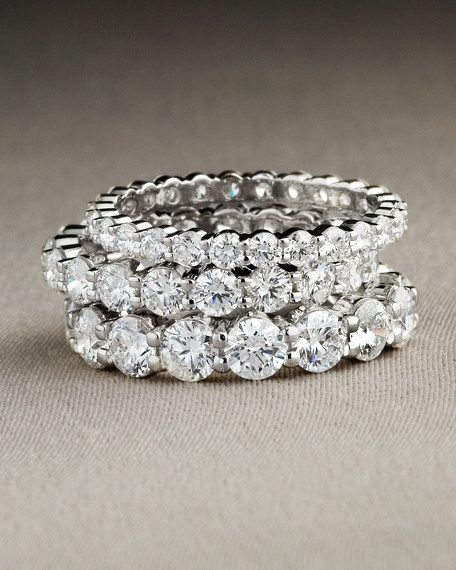 Eternity Rings: I love these paired with a solitaire engagement ring, stacked with a plain gold band, or worn alone!