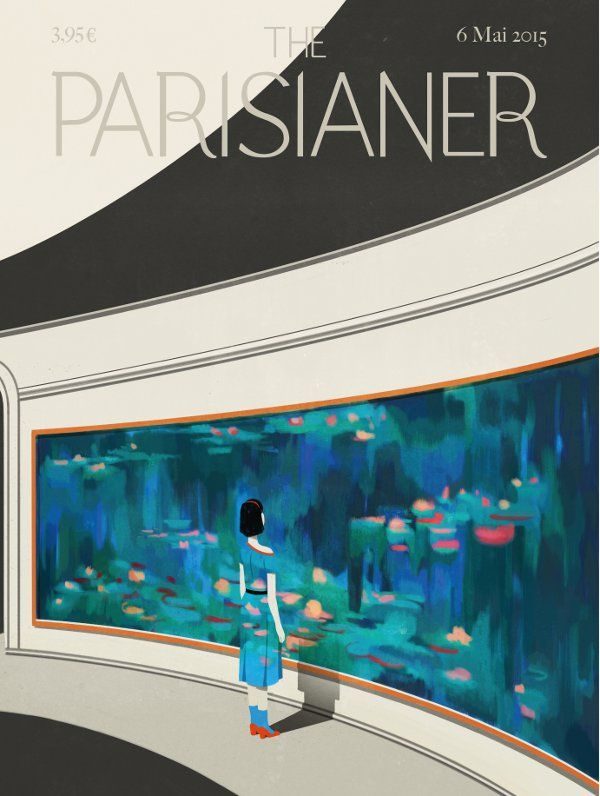 the parisianer -  illustrated cover page of an imaginary magazine