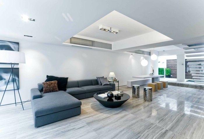 minimalistisch wohnen minimalistisches wohnzimmer runder - moderne einrichtungsideen wohnzimmer