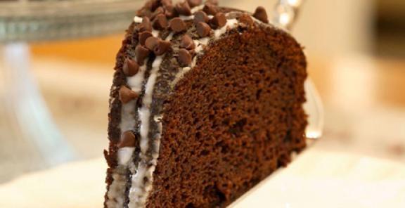 Glazed Chocolate-Pumpkin Bundt Cake  | KitchenDaily.com
