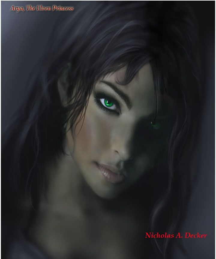 She too looks like a crete. They all have brown skin, long dark hair, and large, vivid colored eyes. http://www.ilyonchronicles.com/