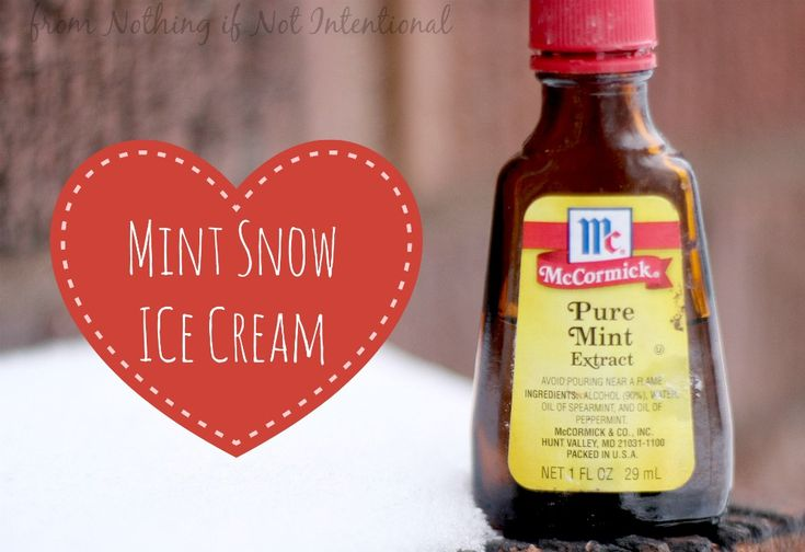 Make your own snow cream! Mint flavored? Amazing!