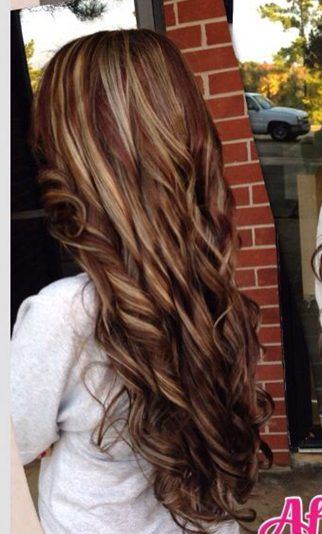 hair color, hair color, hair color,...............PERFECT, Love the curls too