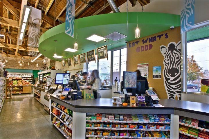 Green Zebra micro-format fresh-grocer by King Retail Solutions, Portland - Oregon