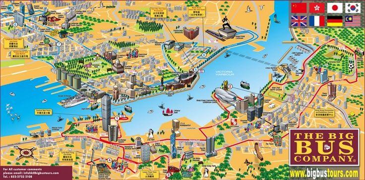 Hong Kong tourist map