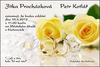 Svatební oznámení č. 344