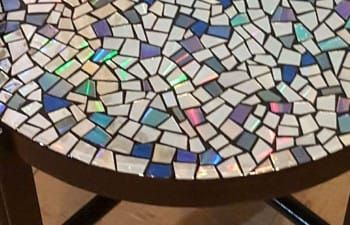 Forgotten CDs Become A Beautiful Mosaic Table