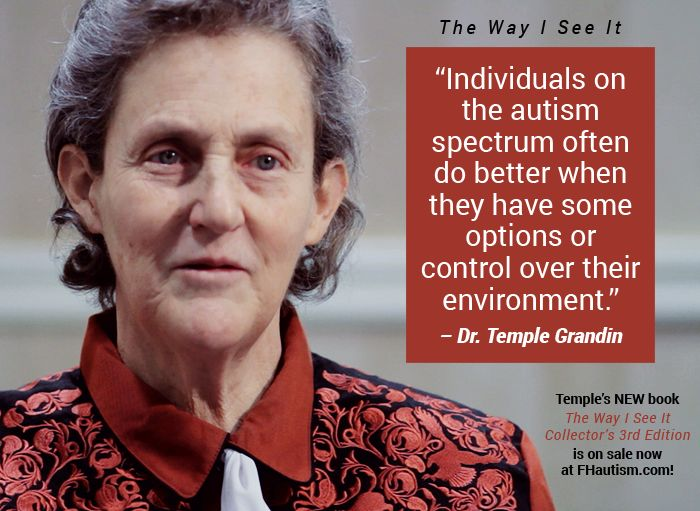 temple grandin autism Dr temple grandin 77,780 likes 504 talking about this i travel the world and speak regarding livestock and autism/asperger's.