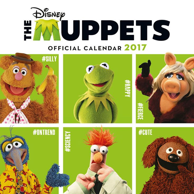 New Official The Muppets 2017 Calendar available with FREE UK P&P (plus worldwide delivery available) at http://bit.ly/TVCals2017