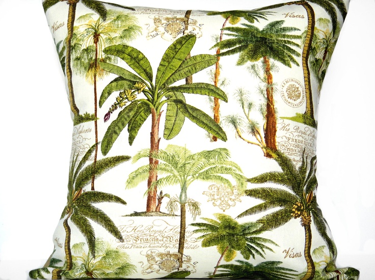 Palm Trees Pillow Palm Trees in decor Pinterest