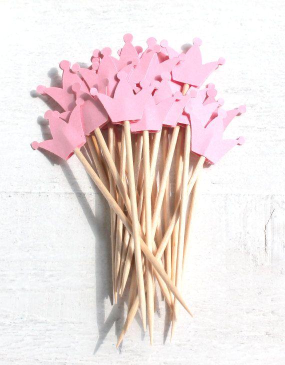 20 Süße CupcakeToppers Krone bzw. von ChristianePaper auf Etsy, $7.00