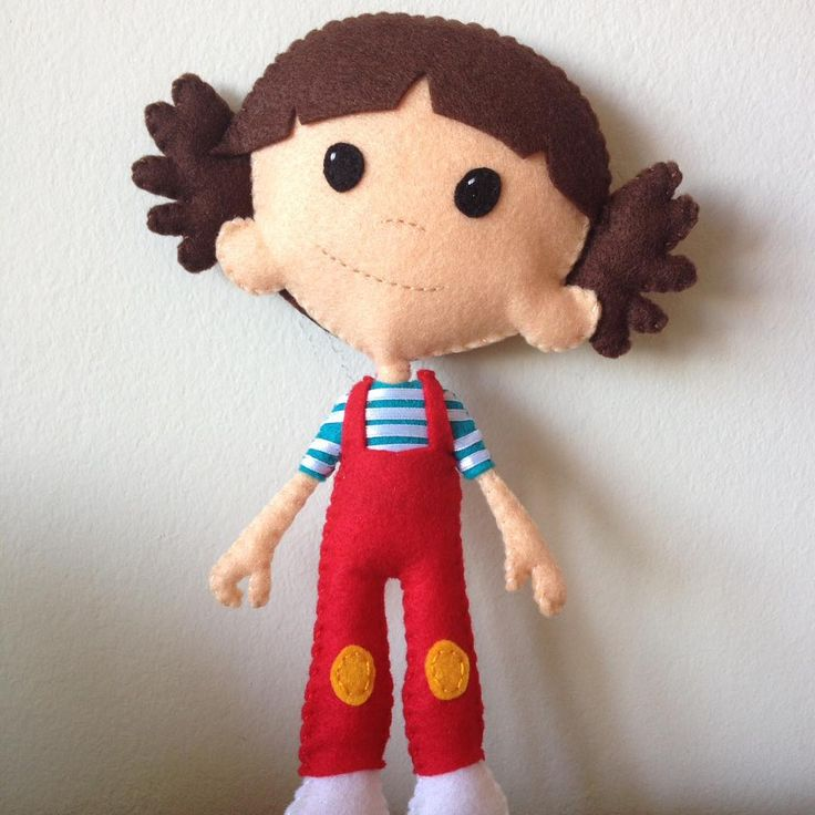 Felt for Adults — :) #feltie #feltro #felt #feltdoll #feltgirl...