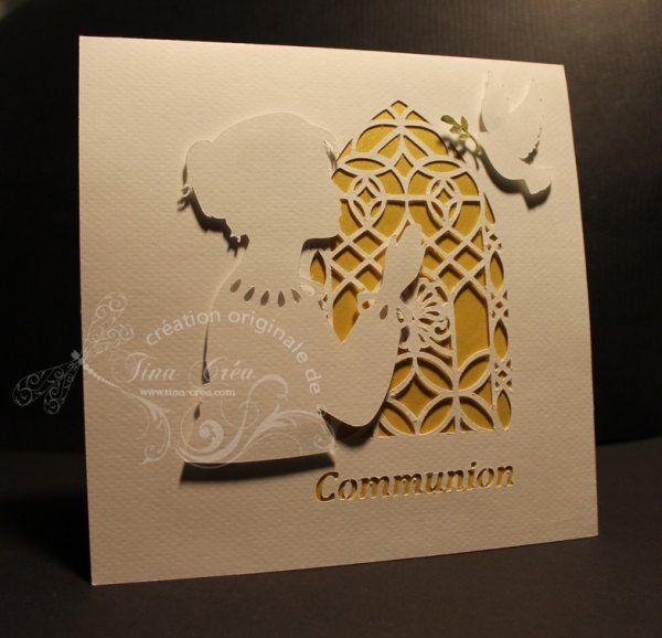 Carte pop-up : première communion