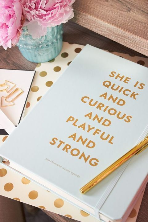 """Put a little pep in your work day, study session or to-dos with this #katespade """"Quick and Curious"""" spiral notebook. Featuring a glamorous mint cover, with 224-lined pages hidden inside."""