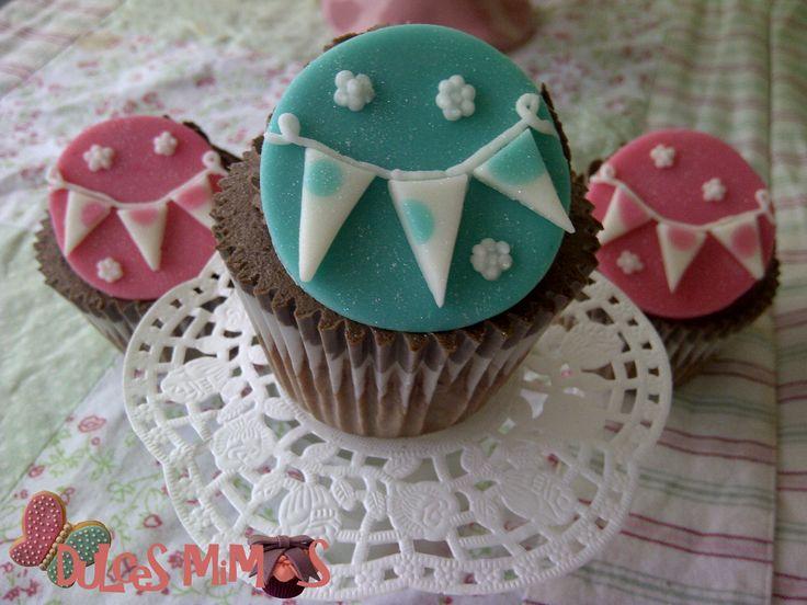 cupcakes banderines