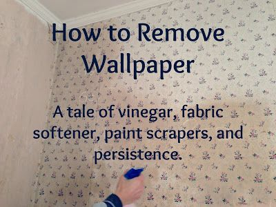 How to remove stubborn, stuck on wallpaper. This tutorial doesn't tell you to rent a steamer and peel it off. It tells you how to remove wallpaper that was put on bare, unprepped drywall. The stuff that comes off an inch at a time. This is not for the faint of heart! But eventually, you'll be able to get rid of that old wallpaper.