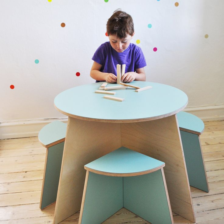 Fun kids table that can be 'put away' like a nesting table - fitting neatly into a corner