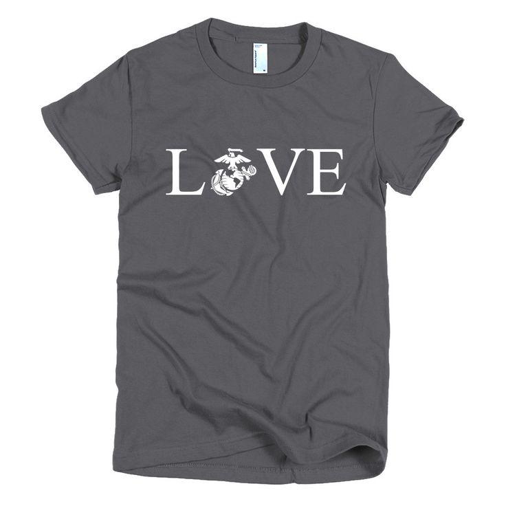 United States Marine Corps USMC LOVE Short sleeve women's t-shirt