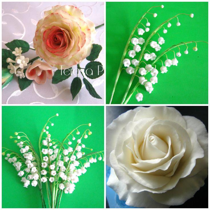 Kwiaty z lukru plastycznego. Teresa P