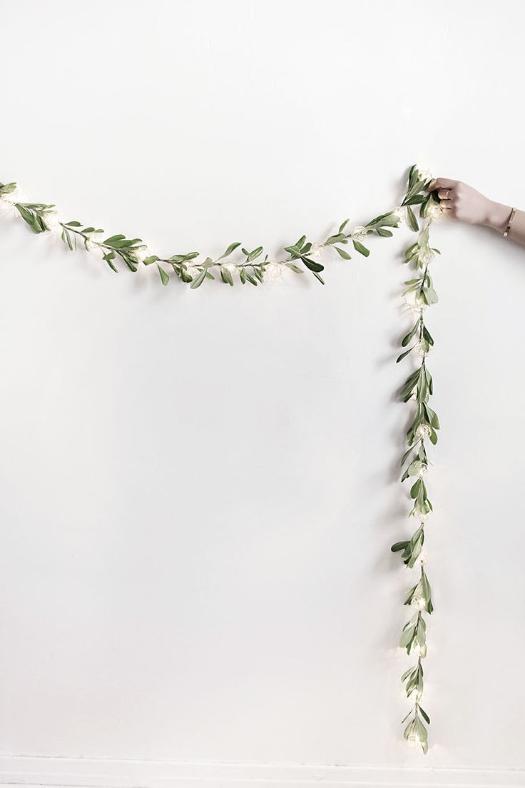 #DIY fairy light garland